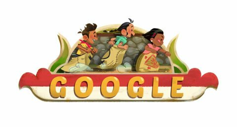 Google Doodle HUT Republik Indonesia ke-73. (Foto:Google)